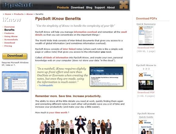 http://ppcsoft.com/iknow-benefits.asp
