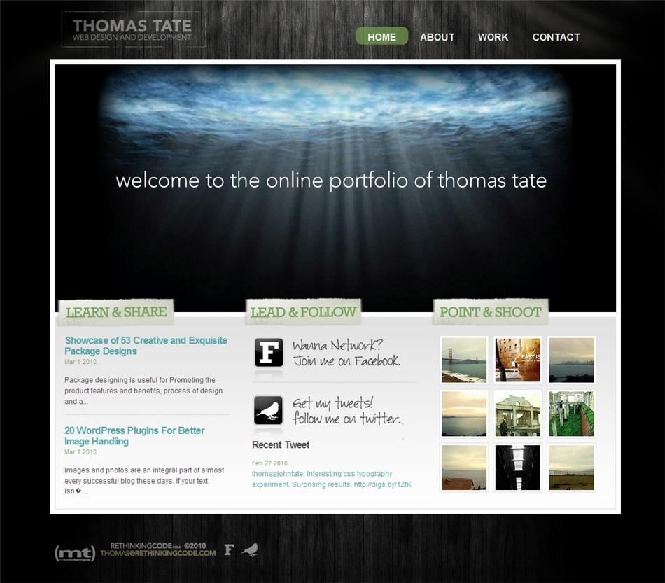 Web Design Portfolio, tjtate.com