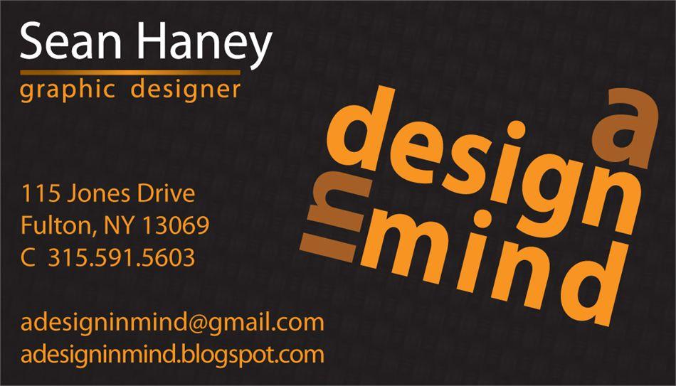 Freelance graphic designer business cards